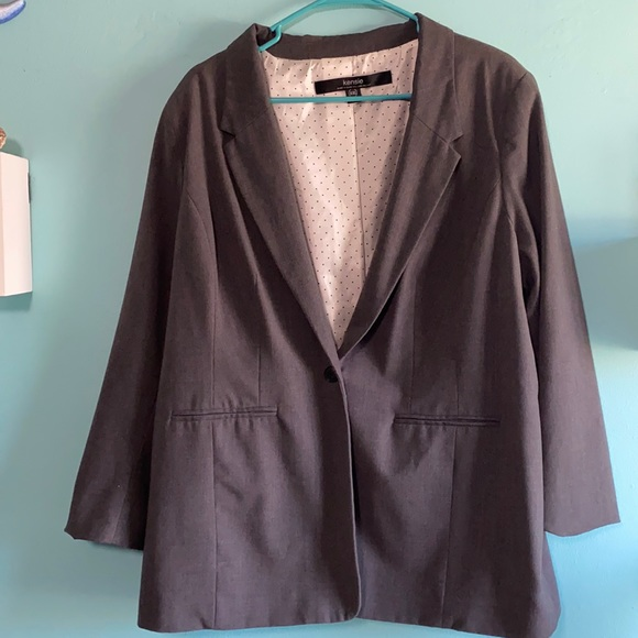 Kensie XXL grey work blazer